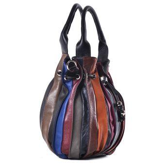 Kolorowa torba ze skóry damska