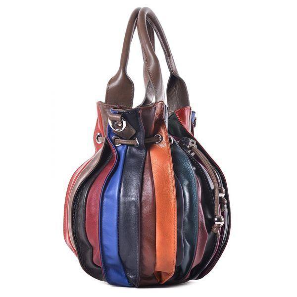 Kolorowa skórzana torba na ramię