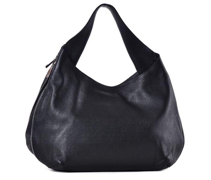Czarna torba damska ze skóry