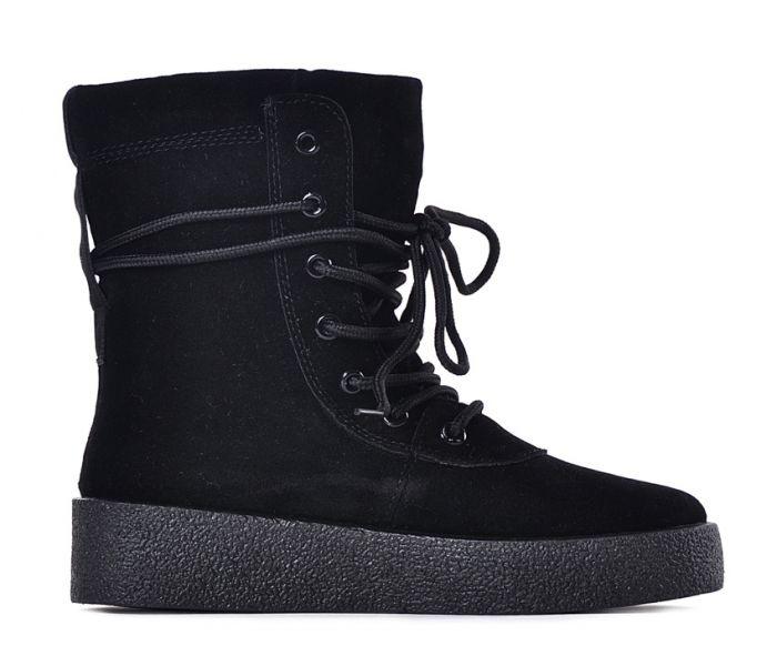 Buty damskie z wysoką cholewką czarne
