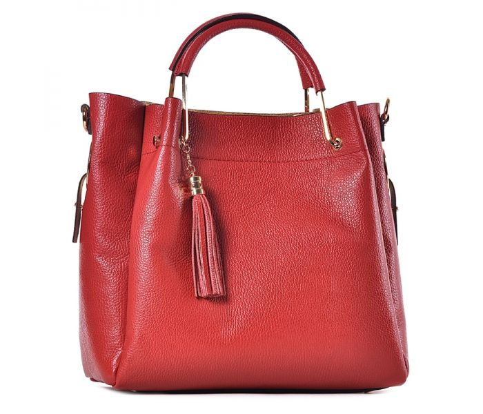 6ee95756d4d94f Elegancka czerwona torebka skórzana