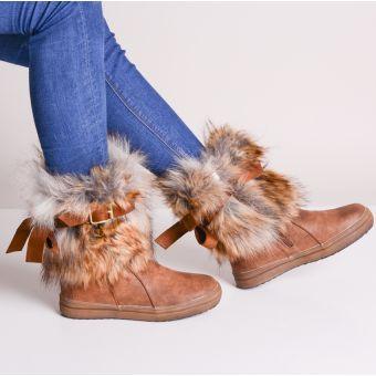 Kozaki damskie zimowe z futerkiem