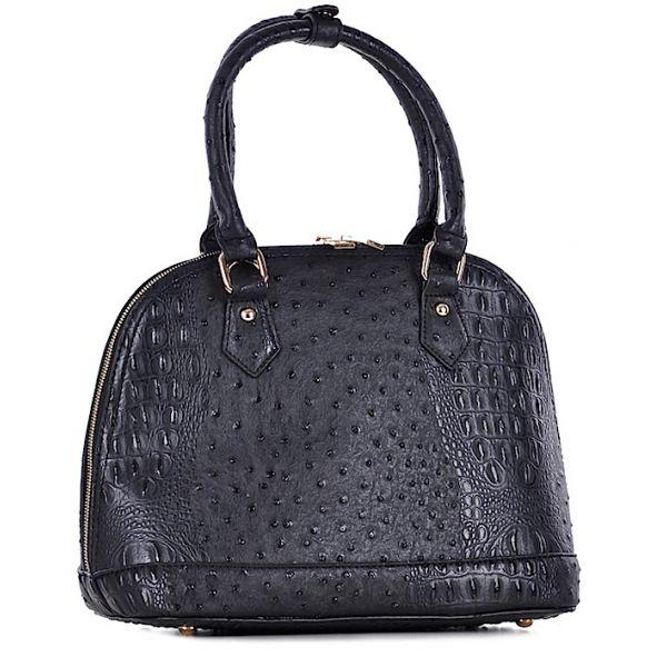 Elegancki czarny kuferek damski