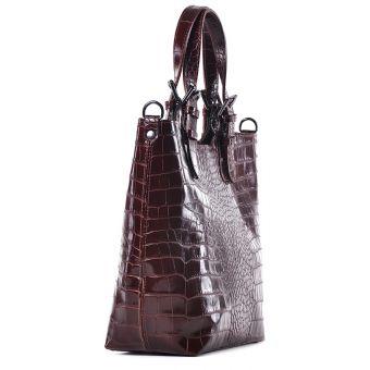 Włoska torebka skórzana shopper