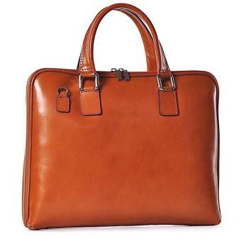 Elegancka torba damska na dokumenty ze skóry
