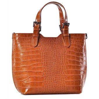 Stylowa torba damska ze skóry shopper