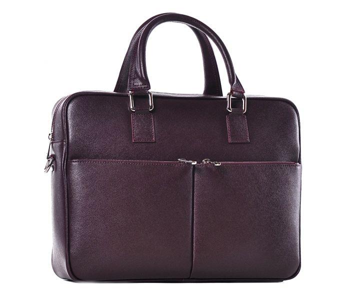 931089d2399b1 Bordowa torba biznesowa na dokumenty skórzana