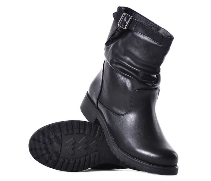 9e572254149da Niskie botki damskie czarne na zimę