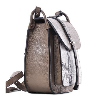 Modna torebka listonoszka beżowa