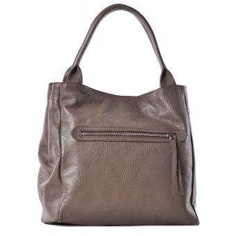 Beżowa torba skórzana worek