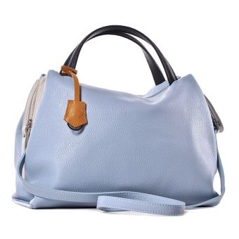 Damska torba ze skóry niebieska