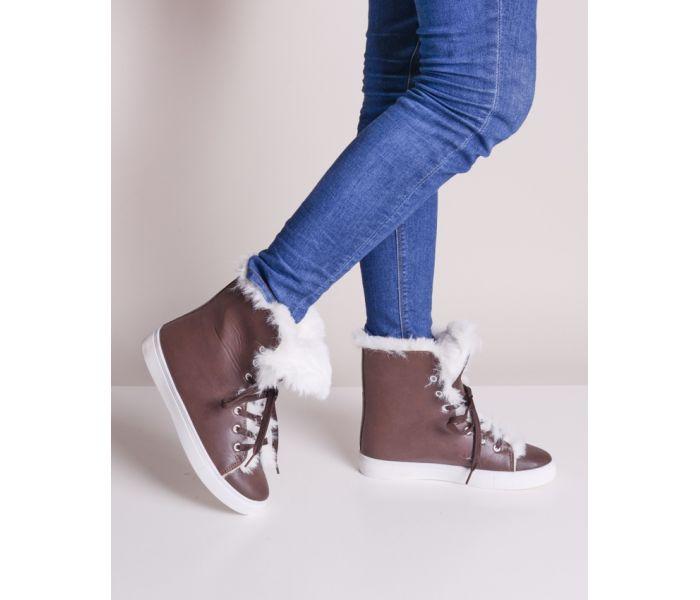 Buty zimowe damskie z futerkiem