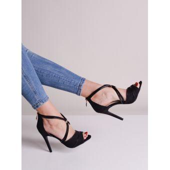 Eleganckie buty damskie na obcasie czarne