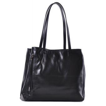 Czarna torebka damska a4 na ramię