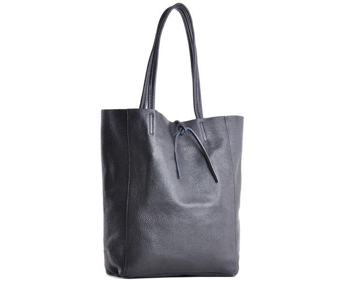 be0a535893032 Czarna torebka damska shopper skórzana na ramię