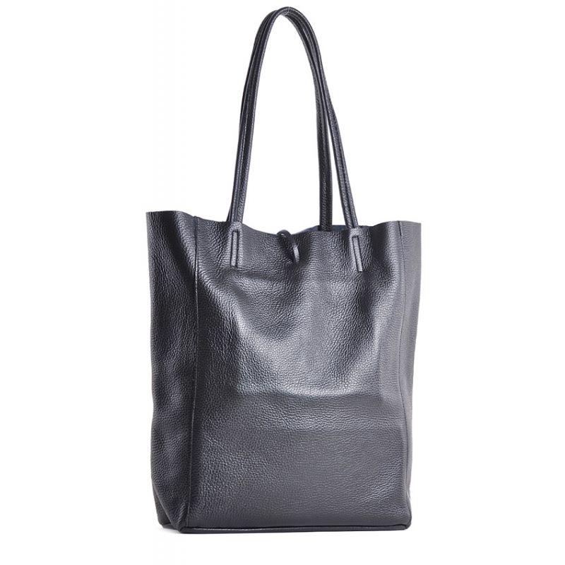 061c441b63ea1 Czarna torebka damska shopper skórzana na ramię