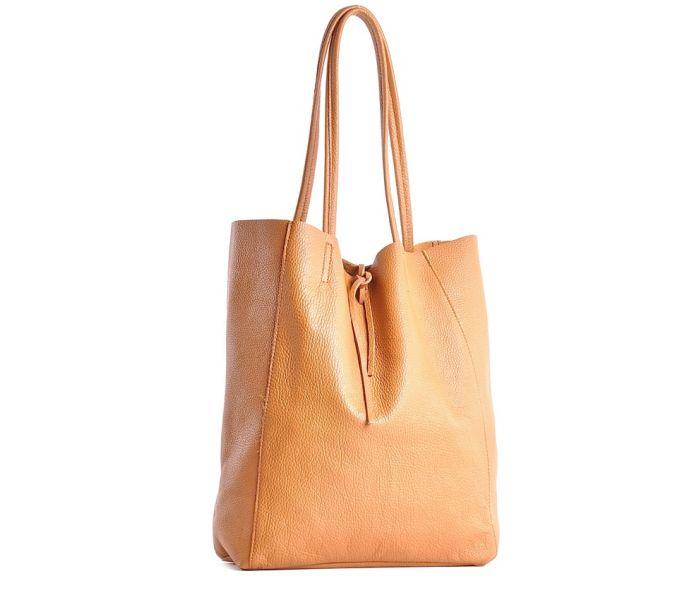 7099632d6185b Duża skórzana torebka damska shopper bag na ramię