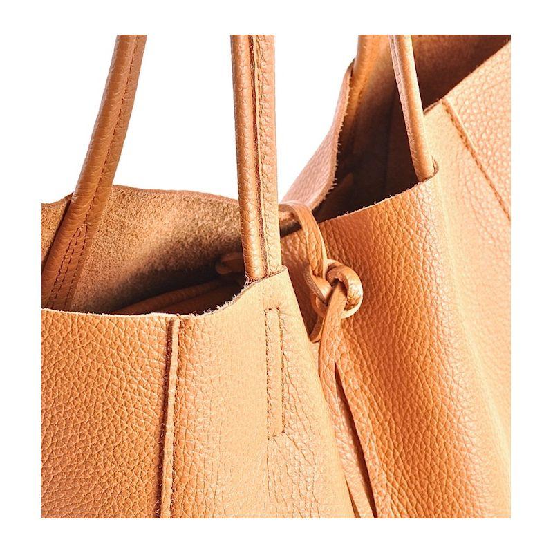 549c7713a37b4 Duża skórzana torebka damska shopper bag na ramię