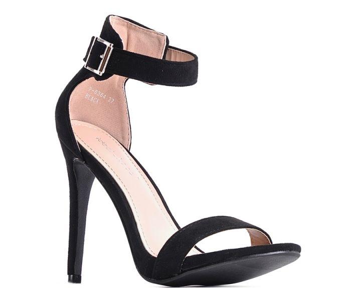 Sandały na szpilce czarne