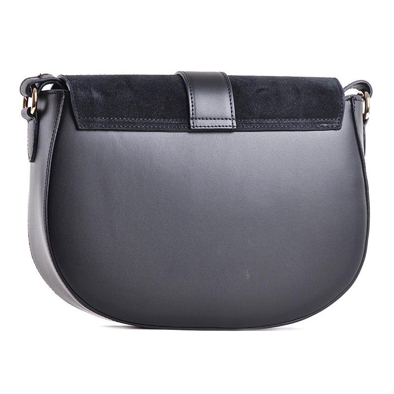 d383a36c808da Mała czarna torba na ramię ze skóry naturalnej