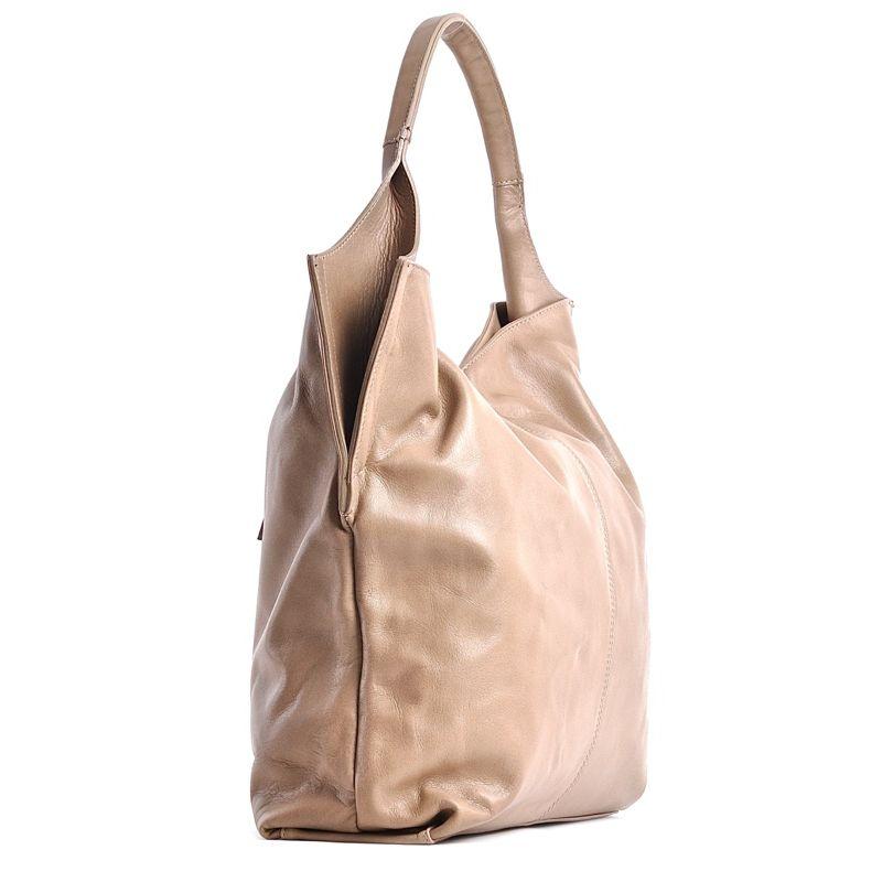 9a6adb27b8e74 Włoska torebka beżowa skóra · Włoska torebka beżowa skóra ...