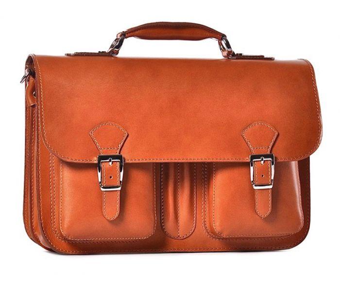 0576d58dfe954 Męska torba na laptopa skórzana brązowa