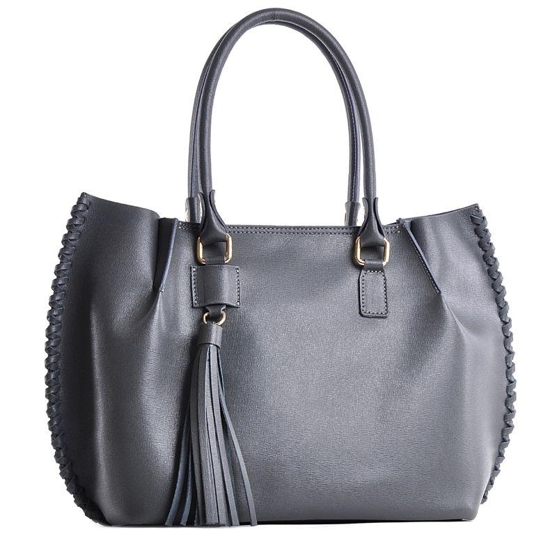 63b4406725fa2 Bordowa torebka damska kuferek z frędzlami elegancka ...