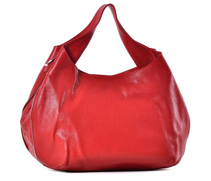 1ebf5120b4b1b Duża czerwona torebka skórzana na ramię