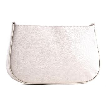 Beżowa torba ze skóry naturalnej listonoszka na lato
