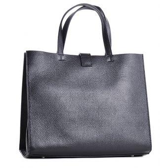 Gustowna torba skórzana włoska kuferek