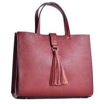 Włoska torebka skórzana damska typu kuferek
