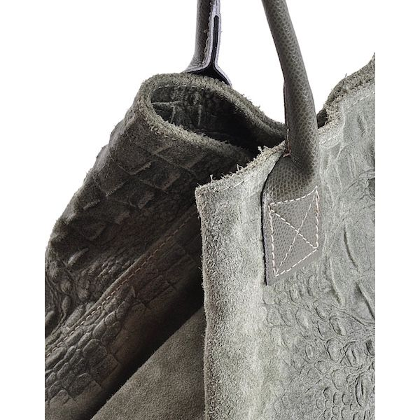 Zamszowa uniwersalna torba skórzana worek