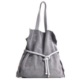 Szara torebka zamszowa na ramię