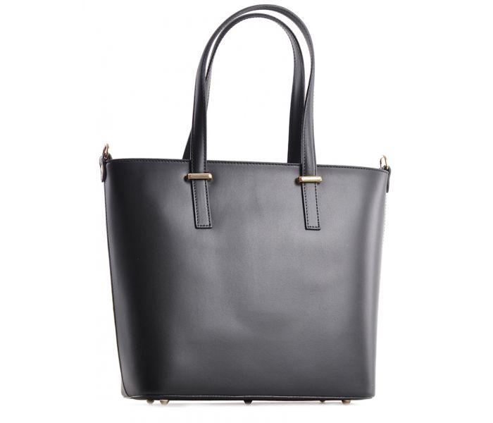 Elegancka torba skórzana beżowa