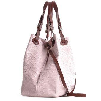 Damska torebka skórzana różowa