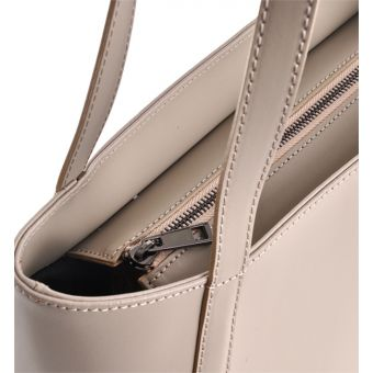 Beżowa torebka skórzana włoska