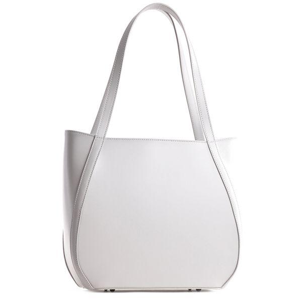 Biała torebka damska skórzana
