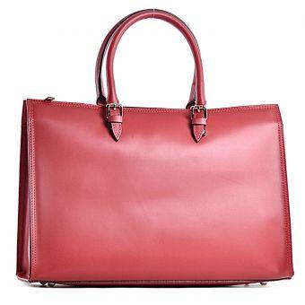 Czerwona torba skórzana elegancka