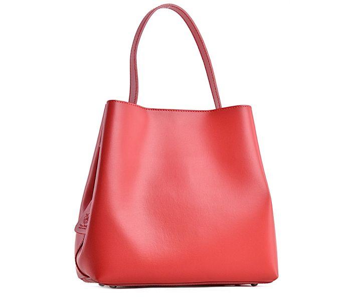 Czerwona torba damska skórzana