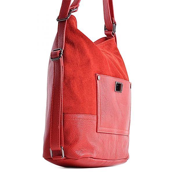 Szara torebka skórzana na ramię