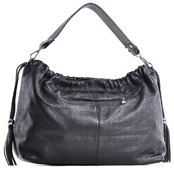 Czarna torebka ze skóry naturalnej