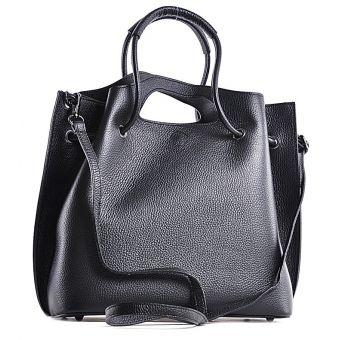 Elegancka torebka skórzana do ręki