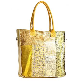 Żółta torebka włoska