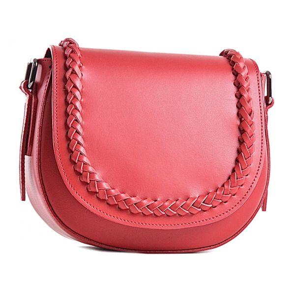 Mała torebka skórzana czerwona