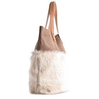 Modna torebka skórzana w panterkę