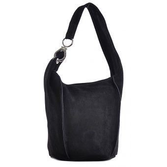 Czarna torebka skórzana na ramię