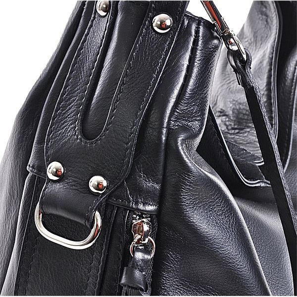 Modna torebka damska skórzana czarna