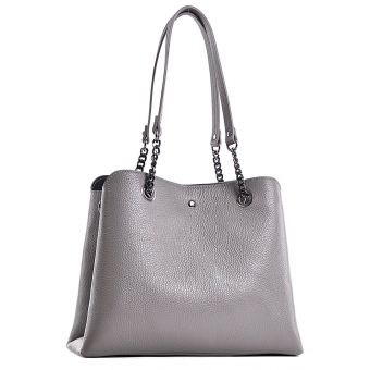 Duża torba damska skórzana shopper