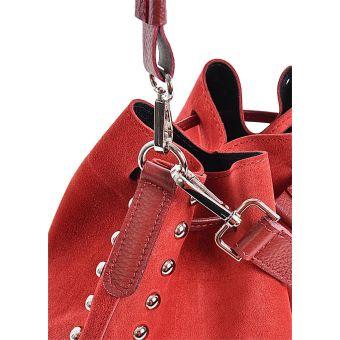 Czerwona torebka damska worek