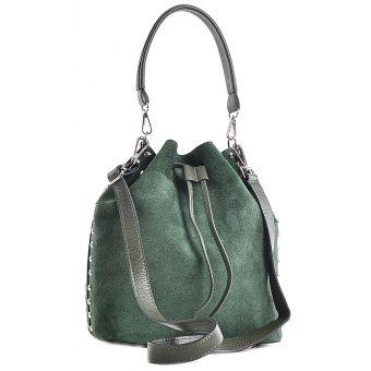 Zielona torebka damska skórzana